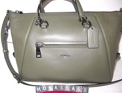 Coach Authentic Primrose Surplus Green Mixed Leather Satchel Bag 34340 NWT $350