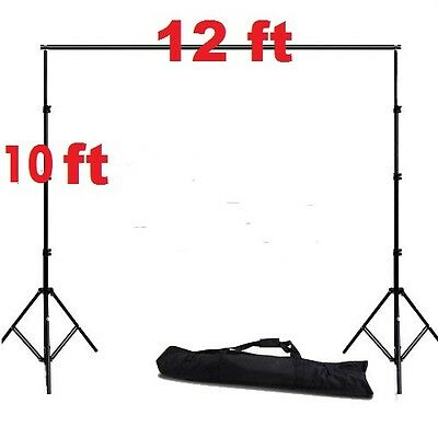 Pro heavy duty 10 ft x 12 ft fully adjustable backdrop stand support system kit