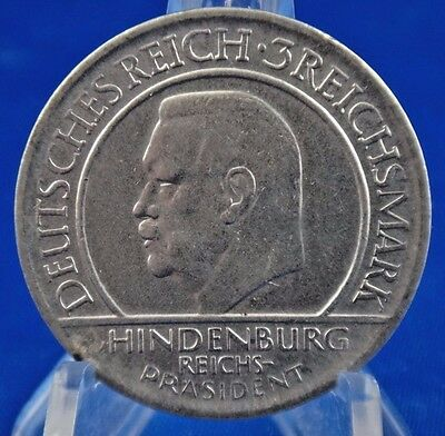 1929 D Germany States Weimar Republic 3 Mark Silver Coin