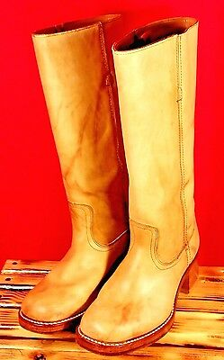Vintage Laredo Boots Leather Made In Usa Ladies S 8M