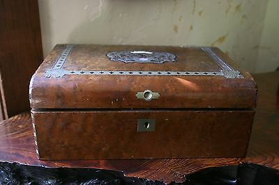 Very Old Antique Early American 19th C Walnut Writing Desk Box