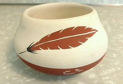 Brown Feather Native American Indian Pottery