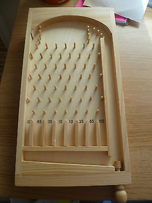Pin ball plinko by imagin  Wooden pin ball game with 20 metal balls Brand new