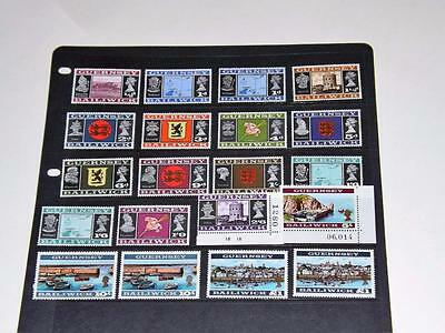 GUERNSEY-1969-SET OF 20 INCLUDING 10sh+£1-SCARCER PERFS-p13.5x13-UNM MINT-MNH