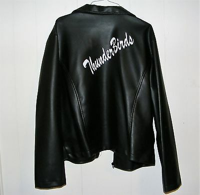 Adult Men's Black Thunderbirds Jacket Costume size XL by Charades Grease