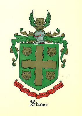*Great Coat of Arms Stowe Family Crest genealogy, would look great framed!
