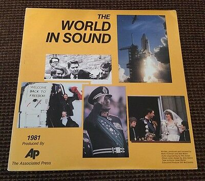 THE WORLD IN SOUND 1981 Associated Press LP
