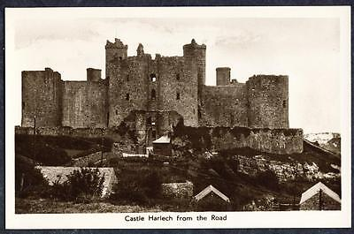 D1660     Castle Harlech from the Road Banger , Merionethshire , Wales.