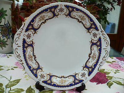 Lovely Vintage Paragon English China Cake or Sandwich Plate Venice Blue Gilded