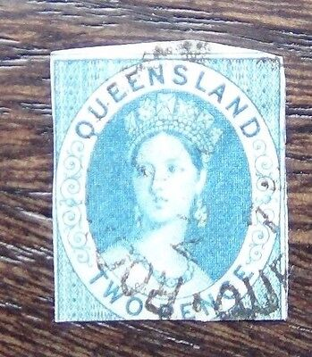 Queensland 1860 2d Blue Used