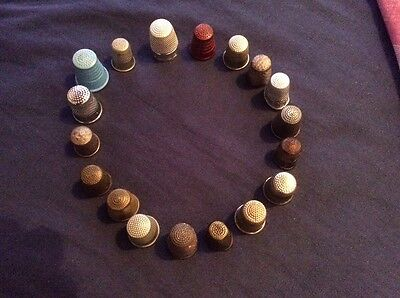 Vintage Job Lot Of Thimbles (18 In Total)