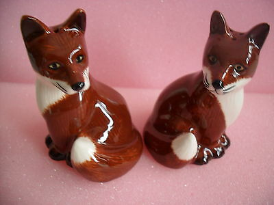 Collectable Quail Pottery Foxes Salt And Pepper Set Boxed Ideal Gift