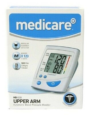Medicare MD638 Digital Upper Arm Blood Pressure Monitor With Cuff