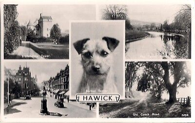 Lovely Rare 5 Different View Old Postcard - Hawick - Roxburghshire C.1945