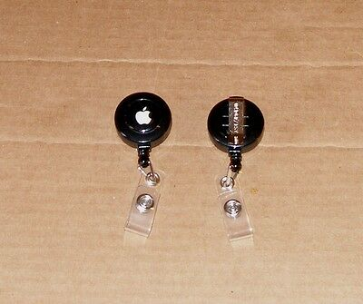 Black Apple Computer Logo Badge Holder Made by Apple - NEW