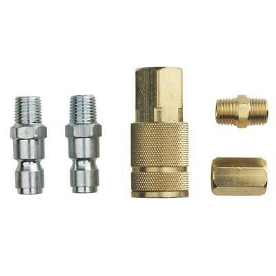 Husky 3/8 inch Air Compressor Hose Connector Kit 5 Piece Fitting Parts Coupler