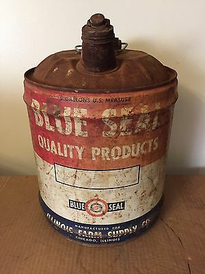 Illinois Farm Supply Blue Seal 5 Gallon Can
