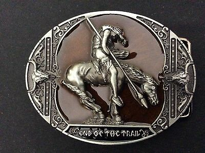 New Western End Of The Trail Belt Buckle