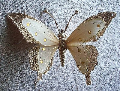 Clip On -  Ornament - Beautiful Gold Clip On  Butterfly