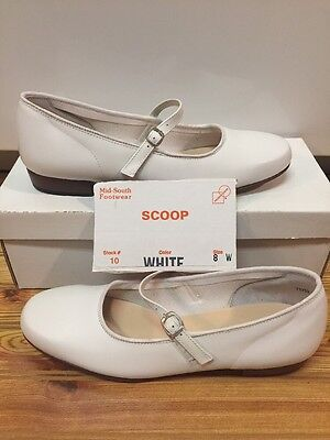 Womens Size 8 W White Scoop Square Dance Shoes
