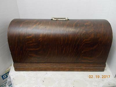 Vintage Sewing Machine Bentwood Case -- Cover Only