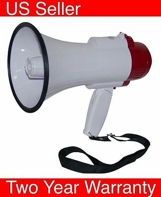 Professional Megaphone Bullhorn with Siren speaker pyle