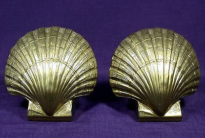 PM Craftsman Shell Bookends Hand Cast Metalware made in Philadelphia, PA