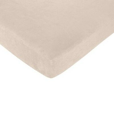 Nojo 100% Cotton Ivory   Fitted Crib  Sheet