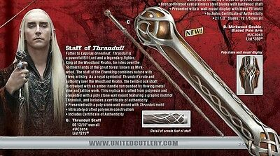 UC3014 – Staff of Tharanduil  The Hobbit OFF LICENSED - PREORDER