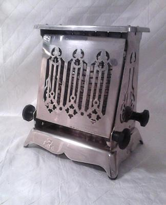 Vtg Antique Toaster c1910-1914 Early Deco Edison w/Cord. Works! Displays Well !