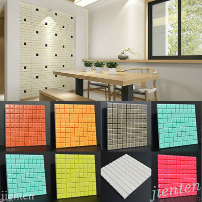 Self-adhesive Mosaic Wall Paper Sticker Tile Floor Kitchen Bathroom Waterproof