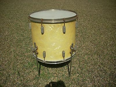 1930's WFL Ludwig 16 inch floor  tom drum white pearl