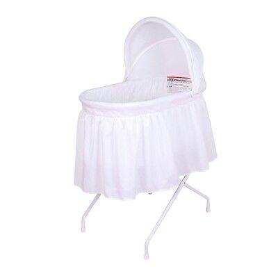 Childcare Halo Baby Bassinet W Mattress Pad White #`036511-003