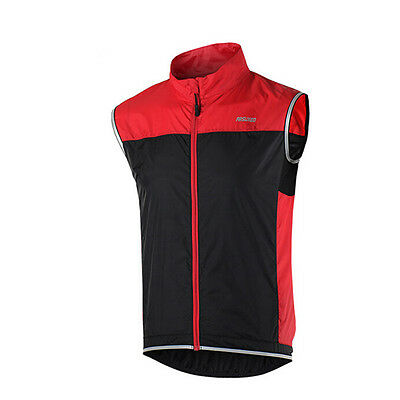 ARSUXEO Windproof Cycling Jacket Outdoor Clothing Bike Bicycle Vest Windbreaker
