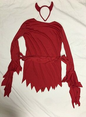 Devils Halloween Costume Kids Size 8-10 Small/medium Red