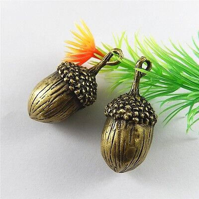 Zinc Alloy Charms Pendant Retro Bronze Cute Acorn Shaped Jewelry Findings 5pcs