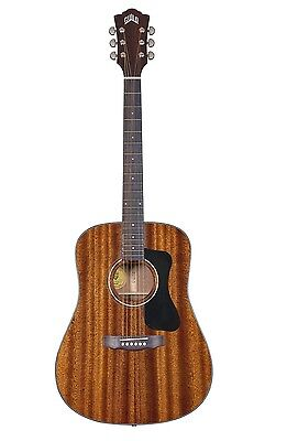 Guild D-125nat All Solid African Mahogany Acoustic Guitar + Hard Case #774181
