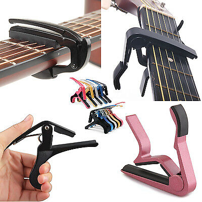 Red Acoustic Guitar Key Trigger Electric Folk Quick Colors Change Clamp Capo