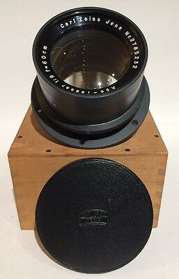 CARL ZEISS JENA APO TESSAR 60cm  f/9 LARGE FORMAT CAMERA LENS 600mm w/ WOOD CASE