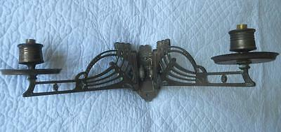 Fabulous Original Art Deco 1920's 1930's Double Arm Solid Brass Wall Sconce