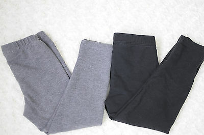 babyGAP Toddler Girl Leggins Lot of 2 Gray Black Cotton GAP Size 3T