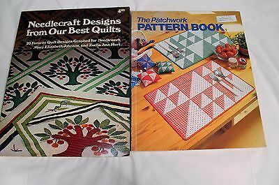 Lot of 2 Quilt and Patterns Books The Patchwork Pattern Book,Etc. FREE SHIPPING!