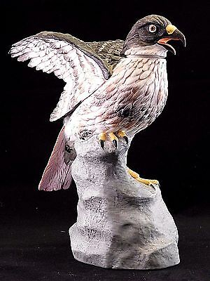 """Vintage 1977 Porcelain Bird Decanter by Ski Country: Large """"Red Tailed Hawk"""""""