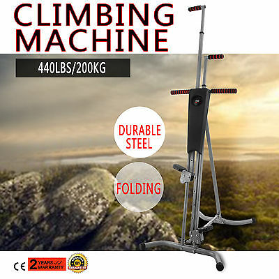 LCD Gym Climber Stepper Climbing Machine Exercise Cardio Workout Sports NEWEST