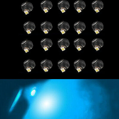20x Ice Blue T4 T4.2 Neo Wedge 1-SMD LED Cluster Instrument Dash Climate Bulbs