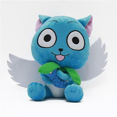 "Anime Fairy Tail Blue HaYVy Carla Plush Doll Baby Toy 10.25"" Xmas Gift  YV"