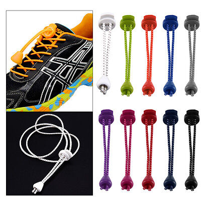 Fashion Elastic Shoelaces Lock Laces Triathlon Running Trainers Elasticated
