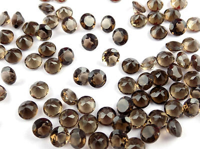 Wholesale Lot Natural Smoky Quartz Round Shape 5mm Normal Cut Loose Gemstone