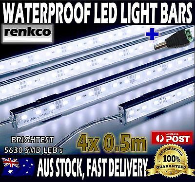 4X12V Waterproof Cool White 5630 Led Strip Lights Bars For Car Camping Boat
