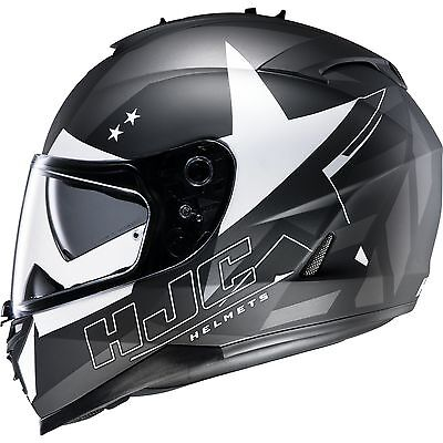HJC IS-17 Armada Black White Motorcycle Helmet Full Face Motorbike Scooter